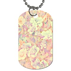 Lovely Floral 36b Dog Tag (Two Sides)