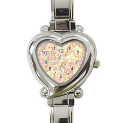 Lovely Floral 36b Heart Italian Charm Watch