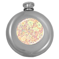 Lovely Floral 36b Round Hip Flask (5 oz)