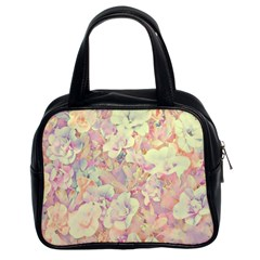 Lovely Floral 36b Classic Handbags (2 Sides)