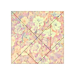 Lovely Floral 36b Acrylic Tangram Puzzle (4  x 4 )