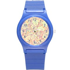 Lovely Floral 36b Round Plastic Sport Watch (S)