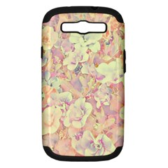 Lovely Floral 36b Samsung Galaxy S III Hardshell Case (PC+Silicone)