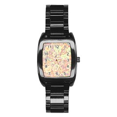 Lovely Floral 36b Stainless Steel Barrel Watch