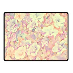 Lovely Floral 36b Double Sided Fleece Blanket (small)