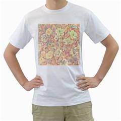 Lovely Floral 36b Men s T-Shirt (White)