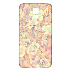 Lovely Floral 36b Samsung Galaxy S5 Back Case (White)