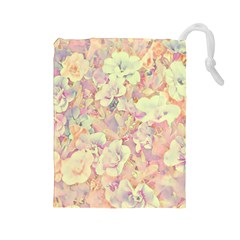 Lovely Floral 36b Drawstring Pouches (Large)