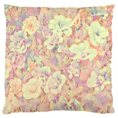 Lovely Floral 36b Large Flano Cushion Case (Two Sides)