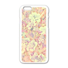 Lovely Floral 36b Apple iPhone 6/6S White Enamel Case