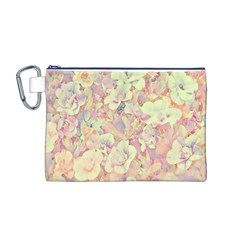 Lovely Floral 36b Canvas Cosmetic Bag (M)