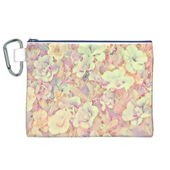 Lovely Floral 36b Canvas Cosmetic Bag (XL)