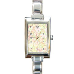 Lovely Floral 36c Rectangle Italian Charm Watch