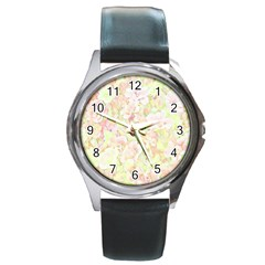 Lovely Floral 36c Round Metal Watch