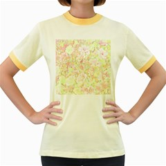 Lovely Floral 36c Women s Fitted Ringer T-Shirts