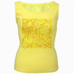 Lovely Floral 36c Women s Yellow Tank Top