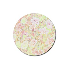 Lovely Floral 36c Rubber Coaster (Round)