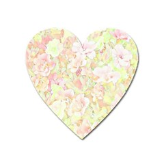 Lovely Floral 36c Heart Magnet