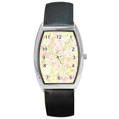 Lovely Floral 36c Barrel Style Metal Watch