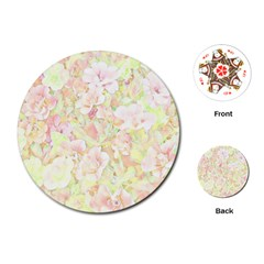 Lovely Floral 36c Playing Cards (Round)