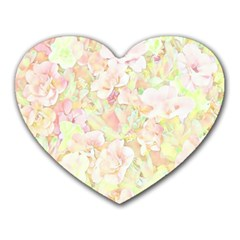 Lovely Floral 36c Heart Mousepads