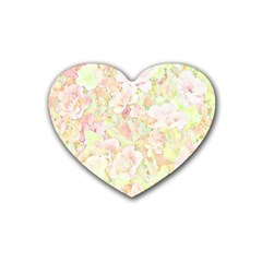 Lovely Floral 36c Heart Coaster (4 pack)