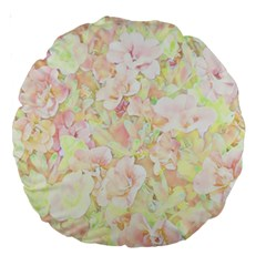 Lovely Floral 36c Large 18  Premium Round Cushions