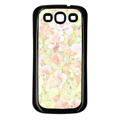 Lovely Floral 36c Samsung Galaxy S3 Back Case (Black)