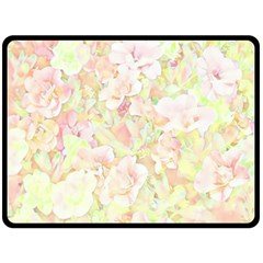 Lovely Floral 36c Double Sided Fleece Blanket (Large)