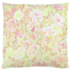 Lovely Floral 36c Large Flano Cushion Case (One Side)