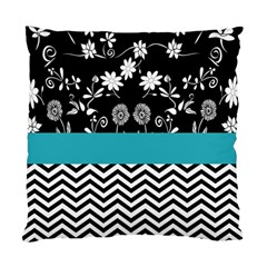 Flowers Turquoise Pattern Floral Standard Cushion Case (two Sides)