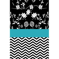 Flowers Turquoise Pattern Floral 5 5  X 8 5  Notebooks