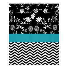 Flowers Turquoise Pattern Floral Shower Curtain 60  X 72  (medium)