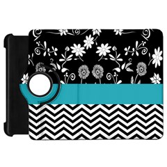 Flowers Turquoise Pattern Floral Kindle Fire Hd 7