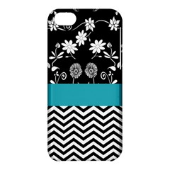 Flowers Turquoise Pattern Floral Apple iPhone 5C Hardshell Case