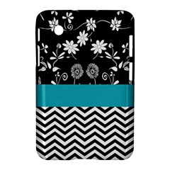 Flowers Turquoise Pattern Floral Samsung Galaxy Tab 2 (7 ) P3100 Hardshell Case