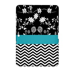 Flowers Turquoise Pattern Floral Samsung Galaxy Tab 2 (10 1 ) P5100 Hardshell Case