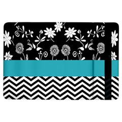 Flowers Turquoise Pattern Floral Ipad Air Flip