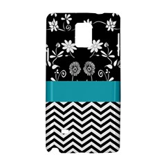 Flowers Turquoise Pattern Floral Samsung Galaxy Note 4 Hardshell Case