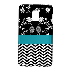 Flowers Turquoise Pattern Floral Galaxy Note Edge