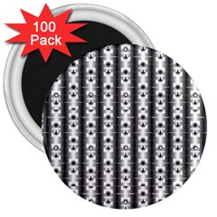 Pattern Background Texture Black 3  Magnets (100 Pack)