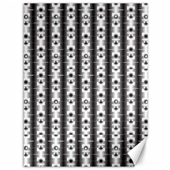 Pattern Background Texture Black Canvas 36  x 48