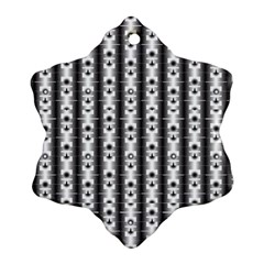 Pattern Background Texture Black Snowflake Ornament (two Sides)