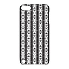 Pattern Background Texture Black Apple Ipod Touch 5 Hardshell Case With Stand