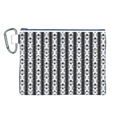 Pattern Background Texture Black Canvas Cosmetic Bag (l)