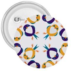 Pattern Circular Birds 3  Buttons