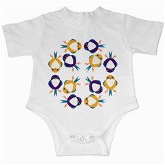 Pattern Circular Birds Infant Creepers