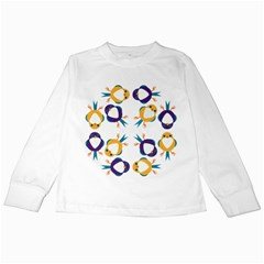 Pattern Circular Birds Kids Long Sleeve T-Shirts