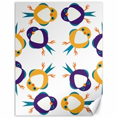 Pattern Circular Birds Canvas 18  X 24