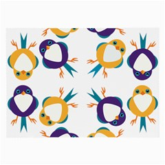 Pattern Circular Birds Large Glasses Cloth (2-Side)